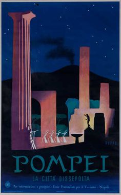 #vintagetravelposters #itlaly #vintagetravel #travel #pompei