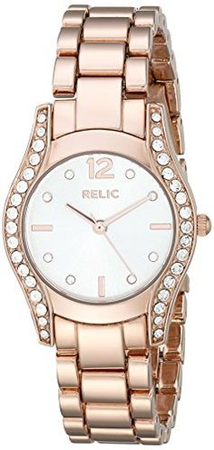 Relic Womens ZR34321 Hailey Rose Gold Watch *** Visit the image link more details.