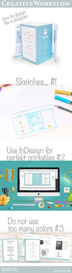 Creative Workflow für das Erstellen eines Flyers.