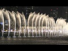 Burj Khalifa -  The Worlds Greatest Dancing Fountain at night time
