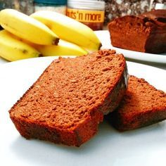 Banana Bread, Goodies, Food And Drink, Healthy Recipes, Fitness, Cake, Sweet, Desserts, Detox