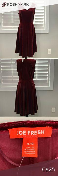 Joe Fresh, Burgundy, Velvet, Summer Dresses, Skirts, Check, Closet, Shopping, Style