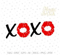 XOXO Svg, Kiss, Hugs and Kisses, Valentine Svg, Lips svg, XOXO, Love svg, Valentine Cut files, Valentines Day, Svg Design, Cricut Cut Files
