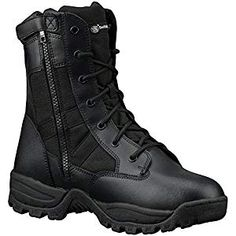 Smith & Wesson Breach Men's Tactical Waterproof Side-Zip Boots Black) -- Awesome products selected by Anna Churchill Waterproof Motorcycle Boots, Waterproof Boots, Side Zip Boots, Smith Wesson, Shoe Brands, Black Boots, Men's Shoes, Combat Boots, Black 13