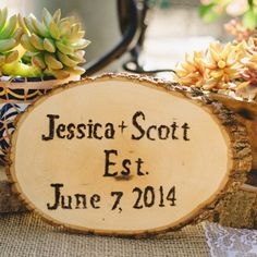 If you're going rustic this sign is for you! Use this idea for anything from table numbers to welcome signs. Xoxo @weddingchicks PC: @mtmorgie #rustic #wedding #sign #wood #instafollow