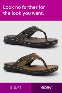 Sandals & Beach Shoes Clothes, Shoes & Accessories #ebay Flip Flop Shoes, Flip Flops, Gents Slippers, Beach Shoes, Shoes Uk, Walking, Footwear, Slip On, Men Sandals
