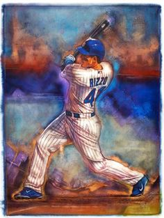Cubs Anthony Rizzo by John Hanley.