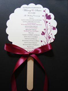 Wedding Program Fans Deposit by PEAKaBooDesign on Etsy, $25.00