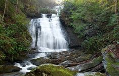 Image result for opossum creek falls, long creek, sc