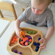 Fine Motor Color Sorting Activity