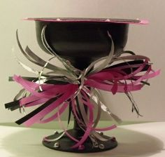 Plastic Cupcake Holders | birthday cupcake holder from a plastic champagne glass....very cute