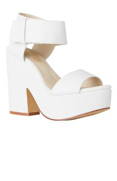 Lipstik Shoes - Jase Wedge - White | Back In Stock | Clothes | Peppermayo