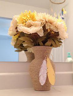 DIY twine wrapped vase