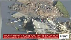 """At about 12:22 a.m. Tuesday, May 19, Midland County Central Dispatch issued an alert advising Edenville Township residents to leave their homes due to an """"imminent dam failure.""""  At this time, about 11,000 people are evacuating from their residences in Midland County, including 10,000 within the City of Midland and 950 within townships and villages. Cbs News, Tuesday, Homes, City, People, Houses, Home, Cities, People Illustration"""