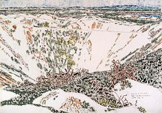 on David Milne Canadian Painters, Canadian Artists, Abstract Landscape, Landscape Paintings, David Milne, Ww1 Art, Art Base, Watercolor Techniques, American Art