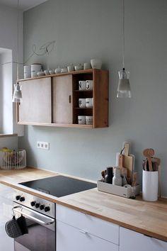 möbelliebe : nina von Labelfrei ME | 23QM Stil Kitchen Furniture, Kitchen Interior, New Kitchen, Home Furniture, Kitchen Decor, Kitchen Wood, Kitchen White, Kitchen Ideas, Kitchen Things