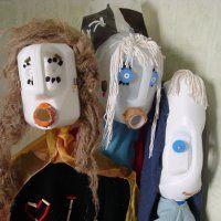 mamzelle r cup r aliser un masque ou totem en bidon de lessive id es jardin maternelle. Black Bedroom Furniture Sets. Home Design Ideas