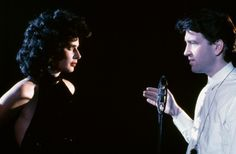"""David Lynch directing Isabella Rossellini on the set of """"Blue Velvet"""" (1986) - Source: Le Cinéma on Twitter"""