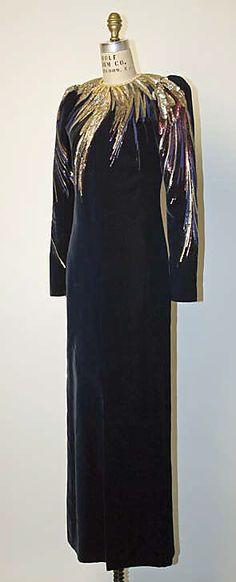 "The Metropolitan Museum of Art - ""Opium"", Dress, Evening. Yves Saint Laurent, Paris, ca. 1978, silk"