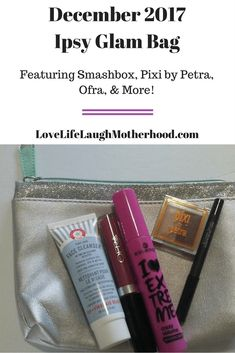 December 2017 Ipsy Glam Bag review featuring Smashbox, Pixi by petra, Essence, Ofra, and Fab First Aid Beauty #beauty #makeup #smashbox