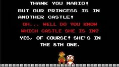 So much time could have been saved... #Mario