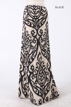 #sweettreatbikinis.com    #Skirt                    #Black #Candle #Print #Maxi #Skirt                  Black Candle Print Maxi Skirt                                                 http://www.seapai.com/product.aspx?PID=1446537