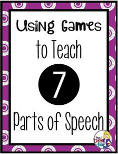 Read about how I play these fun, free grammar games to teach parts of speech and to make it FUN!