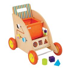 Parents and Manhattan Toy Stow and Go Activity Cart, Beige Wood Cart, Best Toddler Toys, Push Toys, Preschool Games, Baby Games, Wood Toys, Cool Baby Stuff, Kid Stuff, Baby Toys