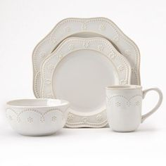 Food Network Fontinella Beaded 4-pc. Place Setting $19.99/4 piece setting; bought this dinnerware today and I'm in love!