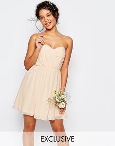 $62 ASOS TFNC WEDDING Bandeau Chiffon Mini Dress