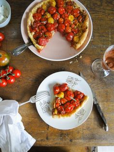 caramelized cherry tomato tart