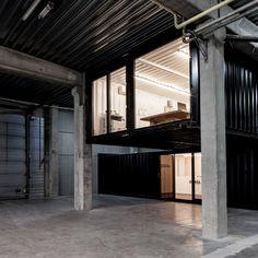 Perch Warehouse Office, Warehouse Living, Warehouse Home, Shipping Container Office, Shipping Container Buildings, Shipping Containers, Container Architecture, Interior Architecture, Inspiration Design