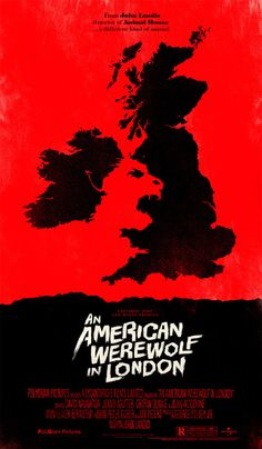 American Werewolf in London Alternative Movie Poster by Olly Moss