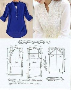 new Ideas sewing projects dresses women diy clothes Sewing Dress, Sewing Pants, Dress Sewing Patterns, Blouse Patterns, Sewing Patterns Free, Clothing Patterns, Blouse Designs, Blouse Sewing Pattern, Sewing Coat
