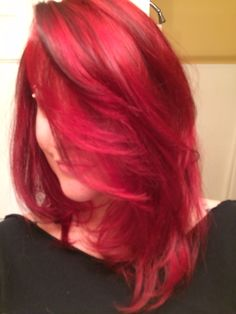 My bright red hair with brown lowlights