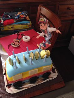 Subway surfer birthday cake Surfer Cake, Surfer Party, Birthday Cakes, Birthday Parties, Subway Surfers, Ideas Para Fiestas, Best Part Of Me, How To Make Cake, Party Games