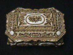 Black Lacquer Crescent Mirror Jewelry Box Jewelry Boxes
