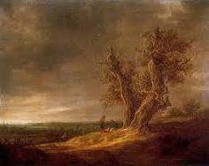 Paisaje con Dos Robles Jan van Goyen  1641