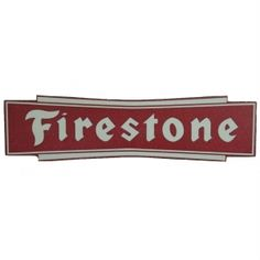 Add this large to any garage, man cave, office or bedroom Art Craft Store, Craft Stores, Firestone Tires, Vintage Neon Signs, Fire And Stone, Car Logos, Tin Signs, Gas Station, Red And White