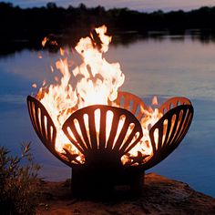 Steel Shell Fire Pit | By Rick Wittrig | Gas & Wood Options