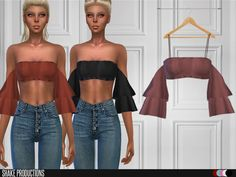 The Sims Resource: ShakeProductions Blouse 127 Sims 4 Mods Clothes, Sims 4 Clothing, Custom Clothing, Clothing Sets, Sims Four, Sims 4 Mm, Sims 4 Black Hair, The Sims 4 Cabelos, Sims 4 Gameplay