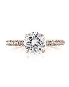 Mark Broumand Rose Gold and Round Cut Engagement Ring | http://trib.al/GFqTolv