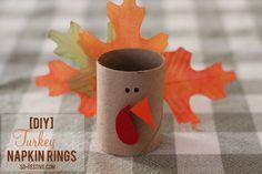 Make these easy DIY Turkey Napkin Rings for Thanksgiving dinner | SoFestive.com