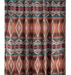 Mojave Shower Curtain Turquoise Curtains Fabric Rustic Bathroom