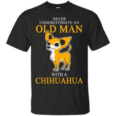 Would you want to wear this shirt?  These are selling out fast!  Tag someone you think might relate to this.   Men's Old Man with a Chihuahua T-Shirt   https://shaharatee.com/product/mens-old-man-with-a-chihuahua-t-shirt/  #Men'sOldManwithaChihuahuaTShirt  #Men's #OldwithShirt #ManwithChihuahua #with #a