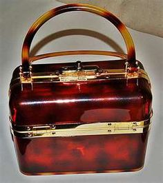 French vintage lucite purse