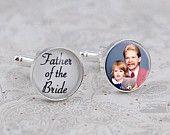 Father of the Bride Cufflinks, Custom Photo Cufflinks, Gift for Dad