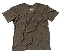 """T-shirt Azul Mamão.  """"A Vida é uma oportunidade de ousar"""""""
