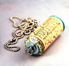 olive bites studio home of cat ivins and the polarity locket: Brazen Cork Necklaces - not afraid to get naked, hang out and maybe cause a little trouble this weekend