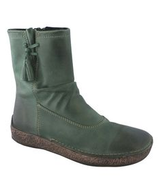groundhog Green Hobsons Leather Boot | zulily